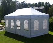 Quickup telt  party  3 x 6 m, m/vegger